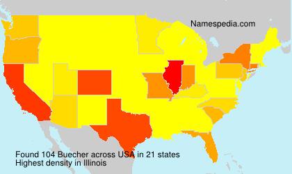 Familiennamen Buecher - USA