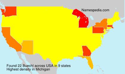 Familiennamen Buechl - USA