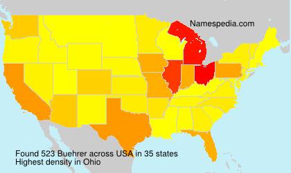Surname Buehrer in USA