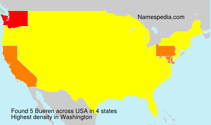 Surname Bueren in USA