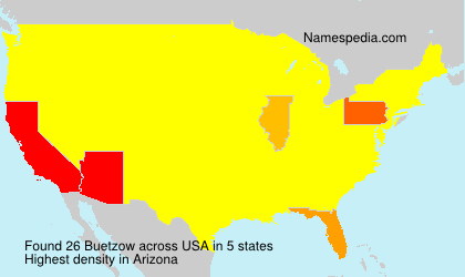 Surname Buetzow in USA