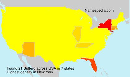 Familiennamen Bufferd - USA