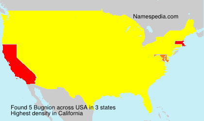 Surname Bugnion in USA