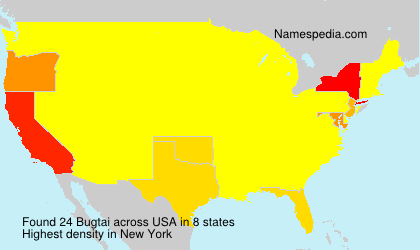 Surname Bugtai in USA