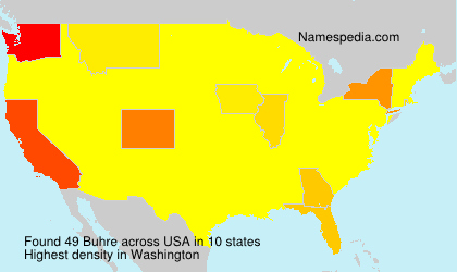 Surname Buhre in USA