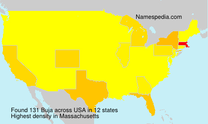 Surname Buja in USA