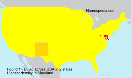 Surname Bujac in USA