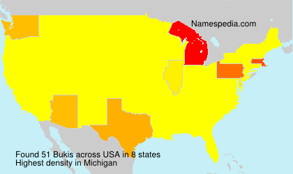 Familiennamen Bukis - USA