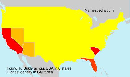 Familiennamen Bukle - USA
