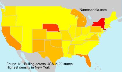 Surname Bulling in USA