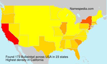 Surname Bullwinkel in USA