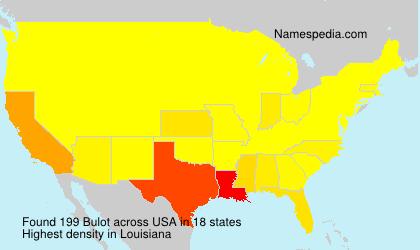Surname Bulot in USA