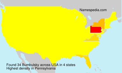 Surname Bumbulsky in USA
