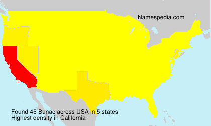 Surname Bunac in USA