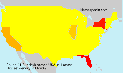Surname Bunchuk in USA