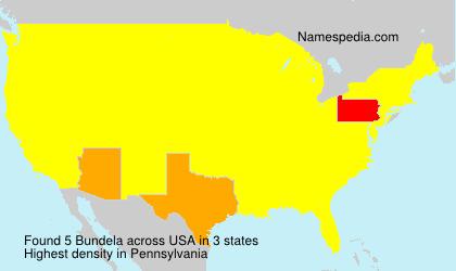 Surname Bundela in USA