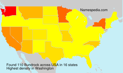 Surname Bundrock in USA