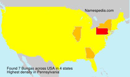 Familiennamen Bungas - USA