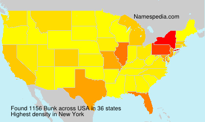 Surname Bunk in USA