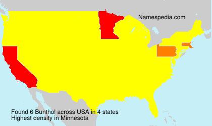 Familiennamen Bunthol - USA
