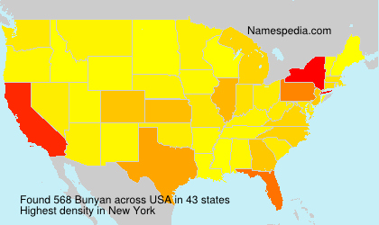 Surname Bunyan in USA