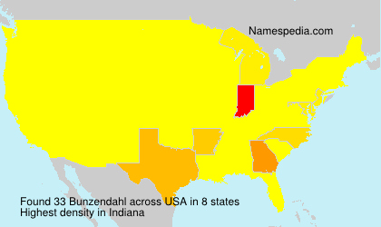 Surname Bunzendahl in USA