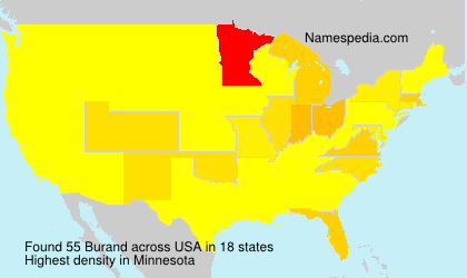 Surname Burand in USA