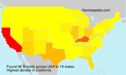 Surname Burckle in USA