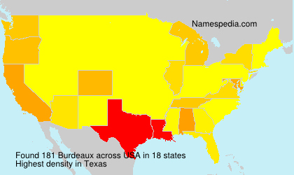 Surname Burdeaux in USA