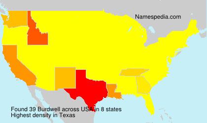 Familiennamen Burdwell - USA