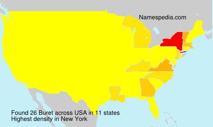 Surname Buret in USA