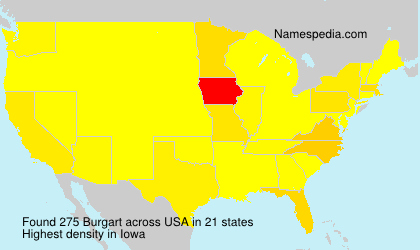 Surname Burgart in USA