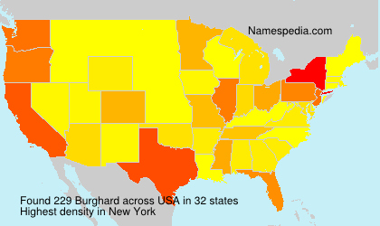 Surname Burghard in USA