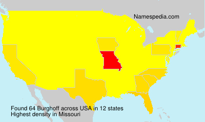 Surname Burghoff in USA