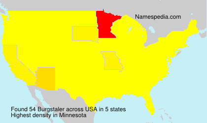 Surname Burgstaler in USA
