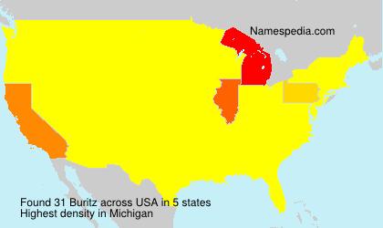Familiennamen Buritz - USA