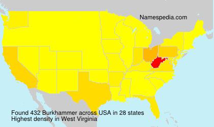 Surname Burkhammer in USA
