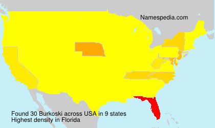 Familiennamen Burkoski - USA