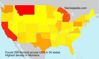 Familiennamen Burland - USA