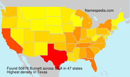 Surname Burnett in USA