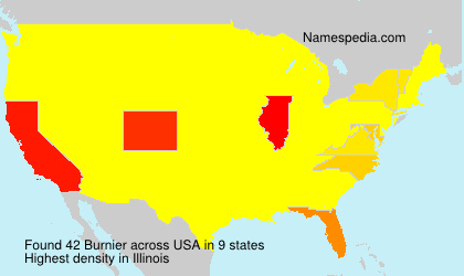 Familiennamen Burnier - USA