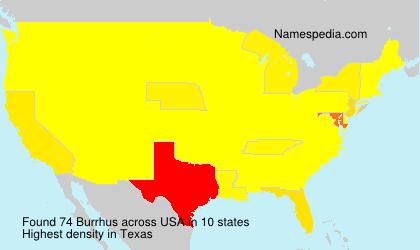 Familiennamen Burrhus - USA