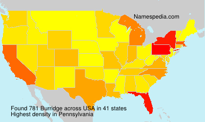 Surname Burridge in USA