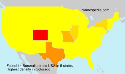 Surname Bursnall in USA