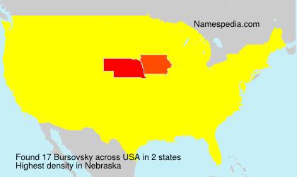 Surname Bursovsky in USA