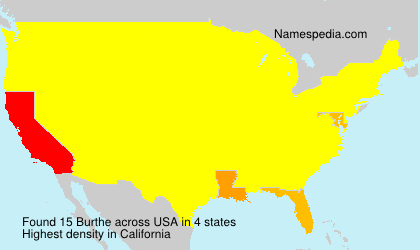 Surname Burthe in USA