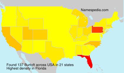 Surname Burtoft in USA