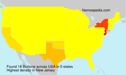 Surname Burtone in USA