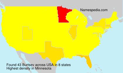 Surname Burtsev in USA