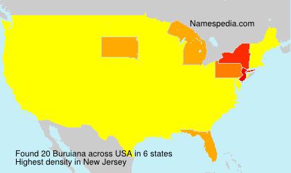 Surname Buruiana in USA